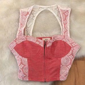 Pins and Needles bustier corset crop top Sz medium